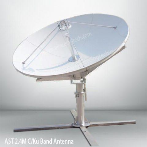 AST 2.4m C band Ku band antenna