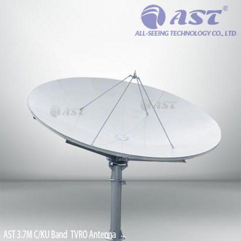AST 3.7 meter TVRO antenna