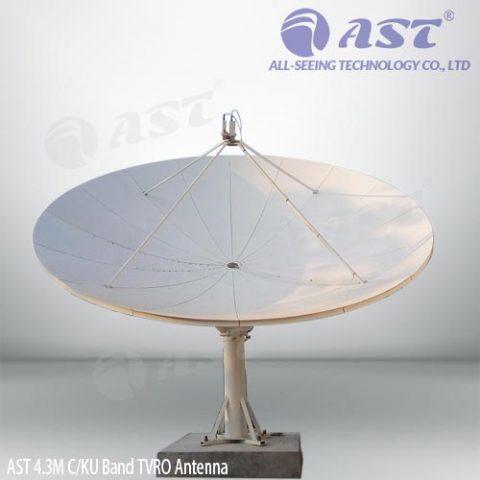 4.3m TVRO antenna