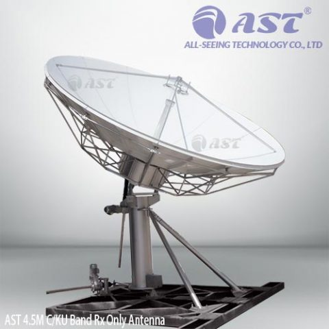 AST 4.5 meter TVRO antenna