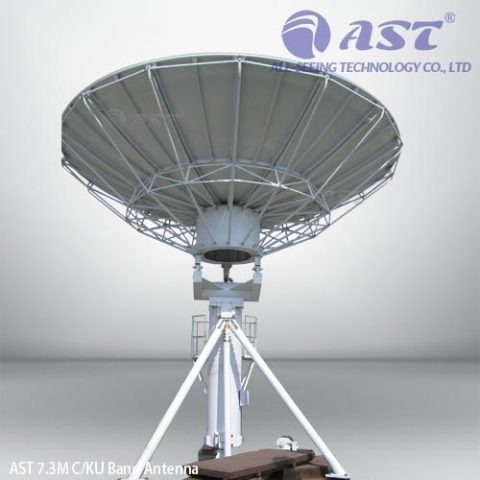 AST 7.3 meter fixed antenna
